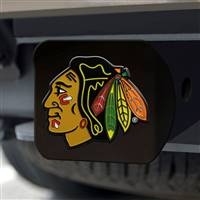 "NHL - Chicago Blackhawks Hitch Cover - Color on Black 3.4""x4"""
