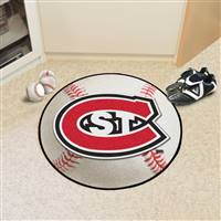 "St. Cloud State Huskies Baseball Rug 29"" diameter"