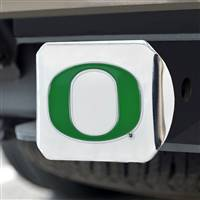"University of Oregon Color Hitch Cover - Chrome 3.4""x4"""
