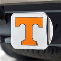 "University of Tennessee Color Hitch Cover - Chrome 3.4""x4"""