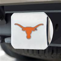 "University of Texas Color Hitch Cover - Chrome 3.4""x4"""