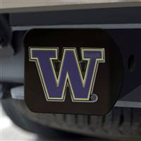 "University of Washington Hitch Cover - Color on Black 3.4""x4"""