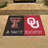 "House Divided - Texas Tech / Oklahoma House Divided Mat 33.75""x42.5"""
