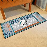 "NFL - Miami Dolphins Ticket Runner 30""x72"""