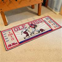 "University of Mississippi (Ole Miss) Ticket Runner 30""x72"""