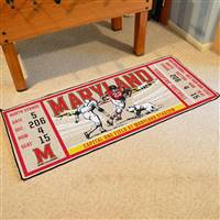 "University of Maryland Ticket Runner 30""x72"""