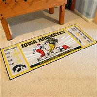 "University of Iowa Ticket Runner 30""x72"""