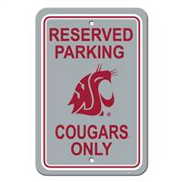 Houston Cougars Sign - Plastic - Reserved Parking - 12 in x 18 in - Special Order