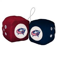 Columbus Blue Jackets Fuzzy Dice - Special Order