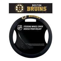 Boston Bruins Steering Wheel Cover Mesh Style - Special Order