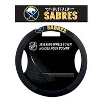 Buffalo Sabres Steering Wheel Cover Mesh Style - Special Order