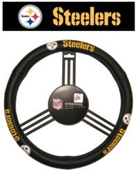 Pittsburgh Steelers Steering Wheel Cover Leather Style
