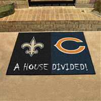 "NFL House Divided - Saints / Bears House Divided Mat 33.75""x42.5"""