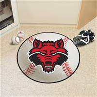 "Arkansas State Red Wolves Baseball Rug 29"" Diameter"