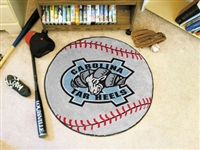"North Carolina Tar Heels Baseball Rug 29"" diameter"