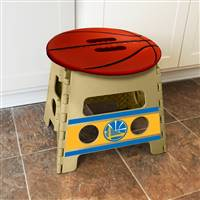 "NBA - Golden State Warriors Folding Step Stool   14""x13"""