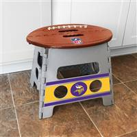 "NFL - Minnesota Vikings Folding Step Stool   14""x13"""