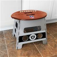 "NFL - Las Vegas Raiders Folding Step Stool   14""x13"""
