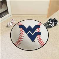 "West Virginia Mountaineers Baseball Rug 29"" Diameter"