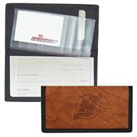 New Jersey Devils Leather/Nylon Embossed Checkbook Cover
