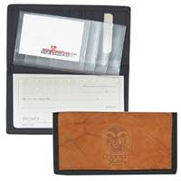 Colorado State Rams Leather/Nylon Embossed Checkbook Cover