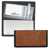Los Angeles Clippers Leather/Nylon Embossed Checkbook Cover