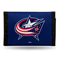 Columbus Blue Jackets Wallet Nylon Trifold - Special Order
