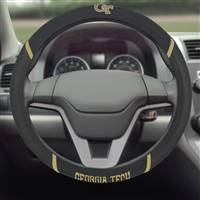 "Georgia Tech Steering Wheel Cover 15""x15"""