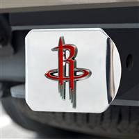 "NBA - Houston Rockets Color Hitch Cover - Chrome 3.4""x4"""