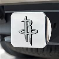 "NBA - Houston Rockets Hitch Cover - Chrome on Chrome 3.4""x4"""