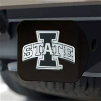 "Iowa State University Hitch Cover - Chrome on Black 3.4""x4"""
