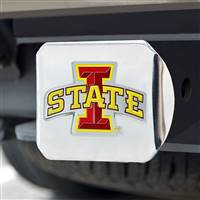 "Iowa State University Color Hitch Cover - Chrome 3.4""x4"""