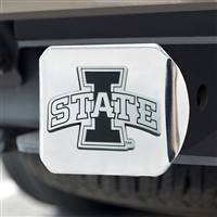 "Iowa State University Hitch Cover - Chrome on Chrome 3.4""x4"""