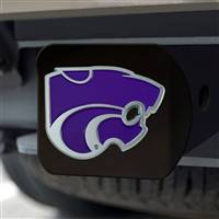 "Kansas State University Hitch Cover - Color on Black 3.4""x4"""