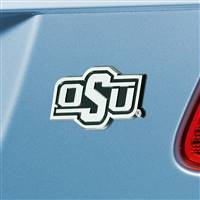 "Oklahoma State University Chrome Emblem 3""x3.2"""