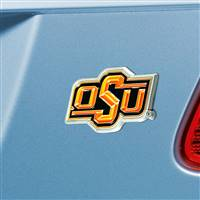 "Oklahoma State University Color Emblem  3""x3.2"""
