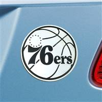 "NBA - Philadelphia 76ers Chrome Emblem 3""x3.2"""
