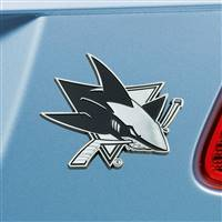 "NHL - San Jose Sharks Chrome Emblem 3""x3.2"""