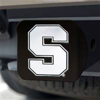 "Syracuse University Hitch Cover - Chrome on Black 3.4""x4"""