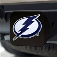 "NHL - Tampa Bay Lightning Hitch Cover - Color on Black 3.4""x4"""