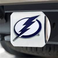 "NHL - Tampa Bay Lightning Color Hitch Cover - Chrome 3.4""x4"""