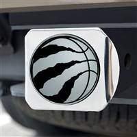 "NBA - Toronto Raptors Hitch Cover - Chrome on Chrome 3.4""x4"""