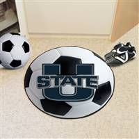 "Utah State University Soccer Ball Mat 27"" diameter"