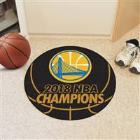 "NBA - Golden State Warriors 2018 NBA Finals Champions Basketball Mat 27"" diameter"