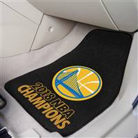 "NBA - Golden State Warriors 2018 NBA Finals Champions 2-pc Carpet Car Mat Set 17""x27"""