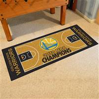 NBA - Golden State Warriors 2018 NBA Finals Champions NBA Court Large Runner 29.5x54