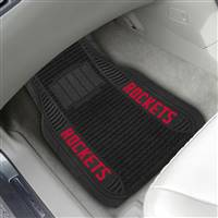 "NBA - Houston Rockets 2-pc Deluxe Car Mat Set 21""x27"""