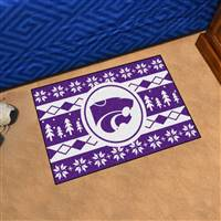 "Kansas State University Holiday Sweater Starter Mat 19""x30"""