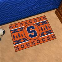 "Syracuse University Holiday Sweater Starter Mat 19""x30"""
