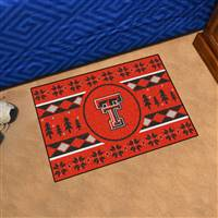 "Texas Tech University Holiday Sweater Starter Mat 19""x30"""